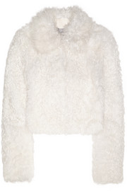 Maida cropped shearling coat