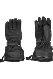Self-heating leather ski gloves