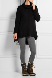 Merino wool-jersey leggings
