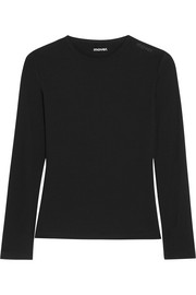 Merino wool-jersey top