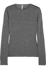 Mover Merino wool-jersey top