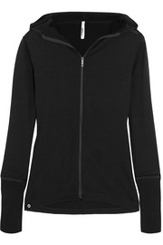 Mover Merino wool-jersey hooded top