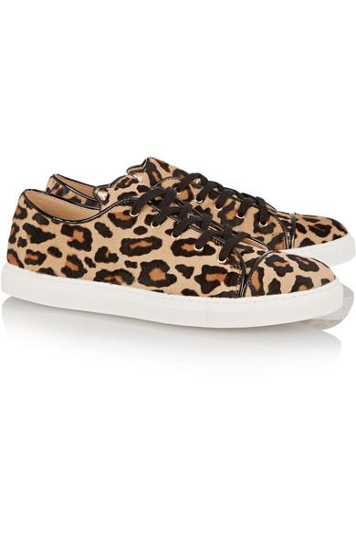 9b3cd373c071 Charlotte Olympia. Purrrfect leopard-print calf hair sneakers. $278. Zoom In