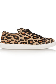 Purrrfect leopard-print calf hair sneakers