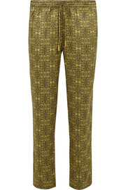 Venice printed silk-satin pants