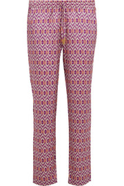 Paloma Blue Paloma printed silk-satin pants