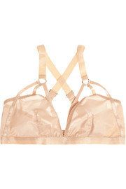 Lonely Lulu stretch-satin soft-cup bra