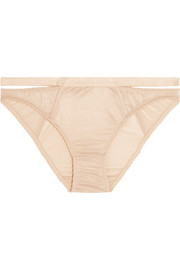 Lonely Lulu stretch-satin briefs