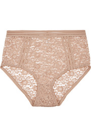 Agnes stretch-lace high-rise briefs