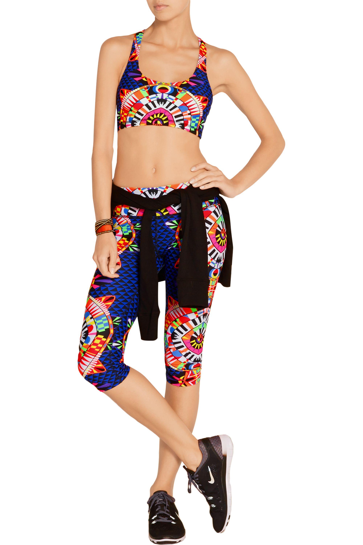 Mara Hoffman Printed stretch sports bra