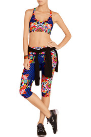 Printed stretch sports bra