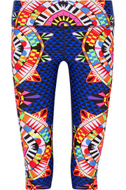 Cropped printed stretch leggings