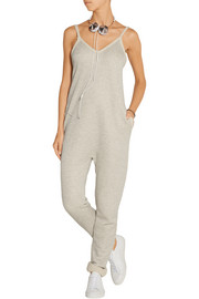 French cotton-blend terry jumpsuit