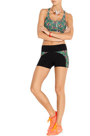 Printed stretch shorts