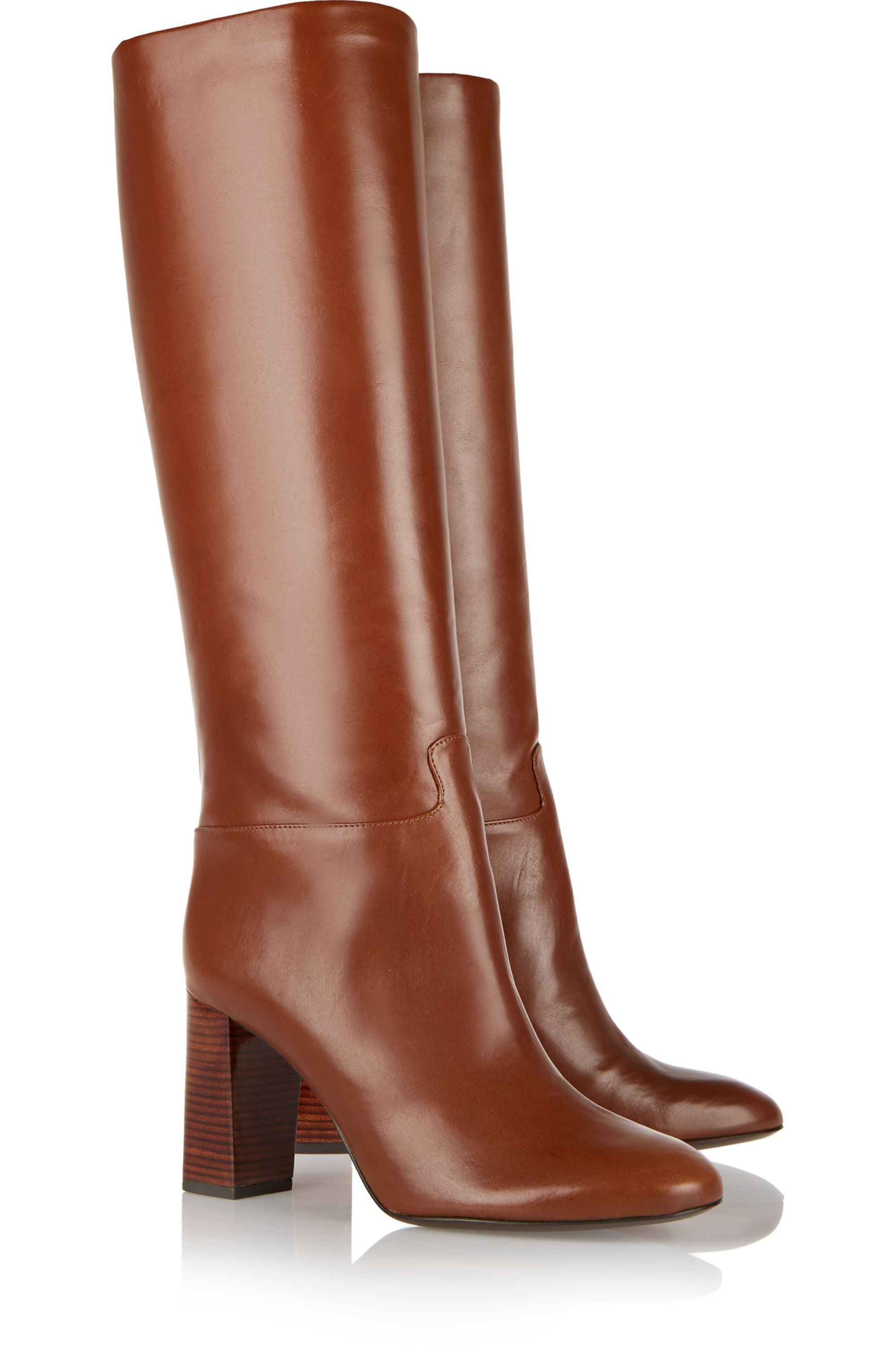 Tory Burch Devon leather knee boots