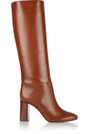 Devon leather knee boots