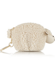 Larry Lamb faux shearling keychain