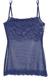 Stretch-lace camisole