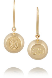 Bell 18-karat gold earrings