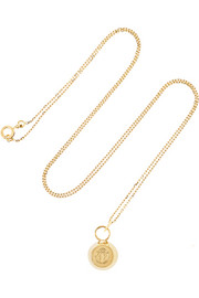 Bell 18-karat gold necklace