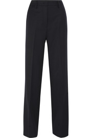 Wool-twill flared pants