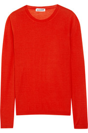 Fine-knit cashmere and silk sweater
