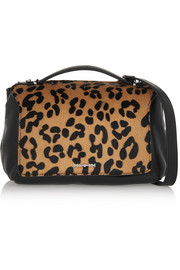 McQ Alexander McQueen Riot mini leopard-print calf hair and leather shoulder bag