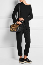 Riot mini leopard-print calf hair and leather shoulder bag