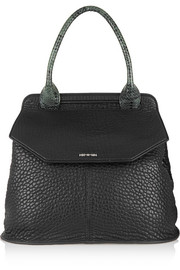 Ruin elaphe-trimmed textured-leather  tote