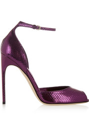 Oriana metallic watersnake sandals