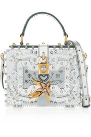 Dolce mirrored-Plexiglas® shoulder bag