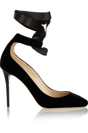 Jimmy Choo Rosana velvet and leather pumps