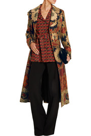 Patchwork jacquard coat