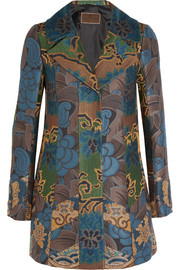 Patchwork jacquard jacket