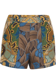 Patchwork jacquard shorts
