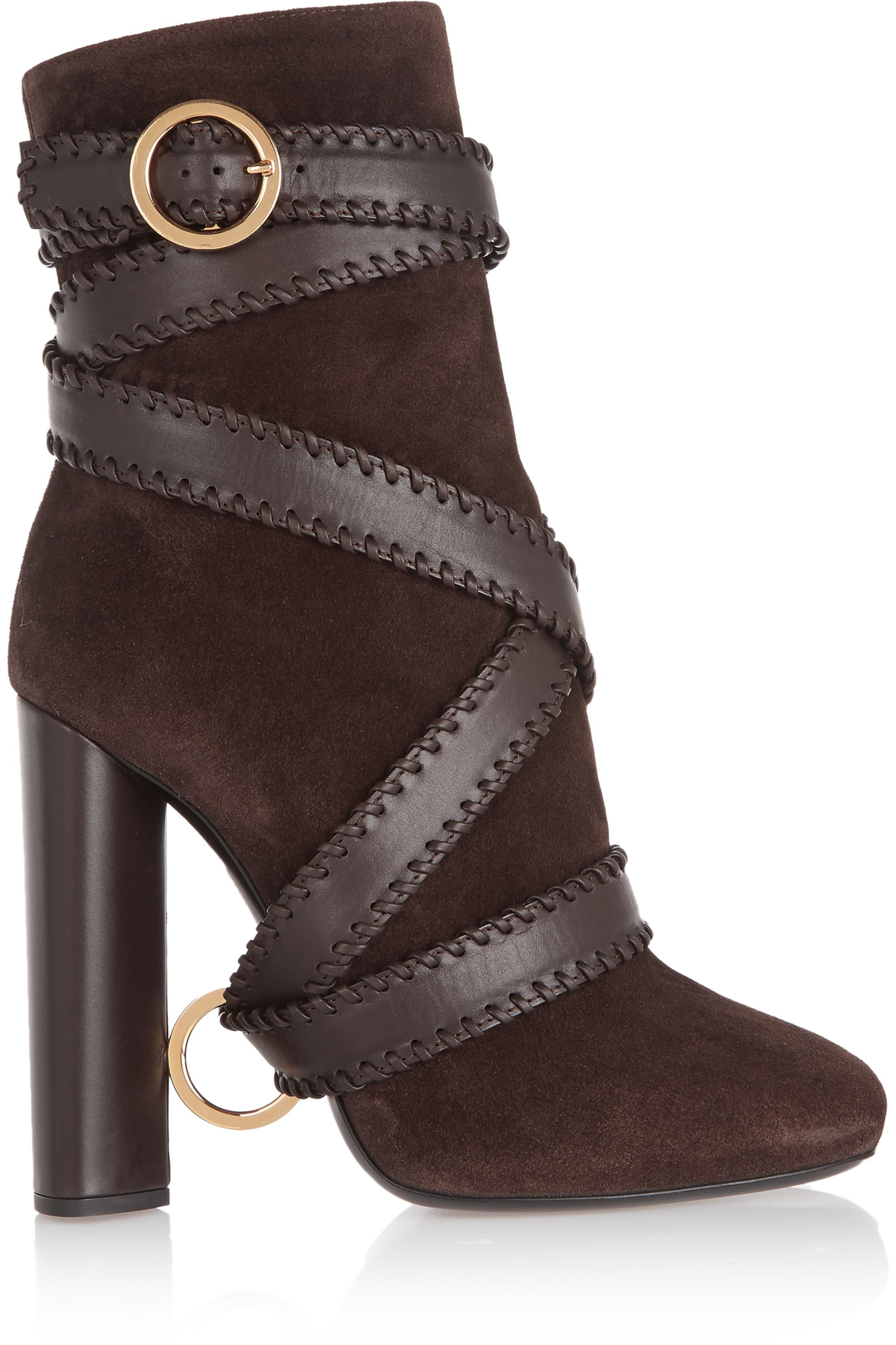 TOM FORD Leather and suede ankle boots