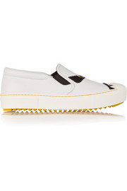 Fendi Bag Bug leather slip-on sneakers