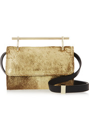 Fabricca mini metallic calf hair shoulder bag
