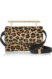 Fabricca mini leopard-print calf hair shoulder bag