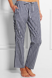 Marina gingham cotton-poplin pajama pants