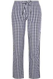 Sleepy Jones Marina gingham cotton-poplin pajama pants