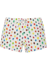 Paloma printed cotton-poplin pajama shorts