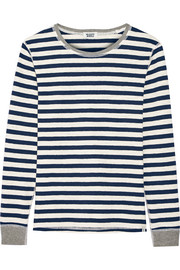 Helen striped cotton-jersey pajama top