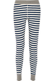 Helen striped cotton-jersey pajama pants