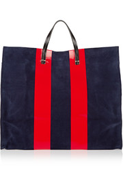 Clare V Simple leather and suede tote