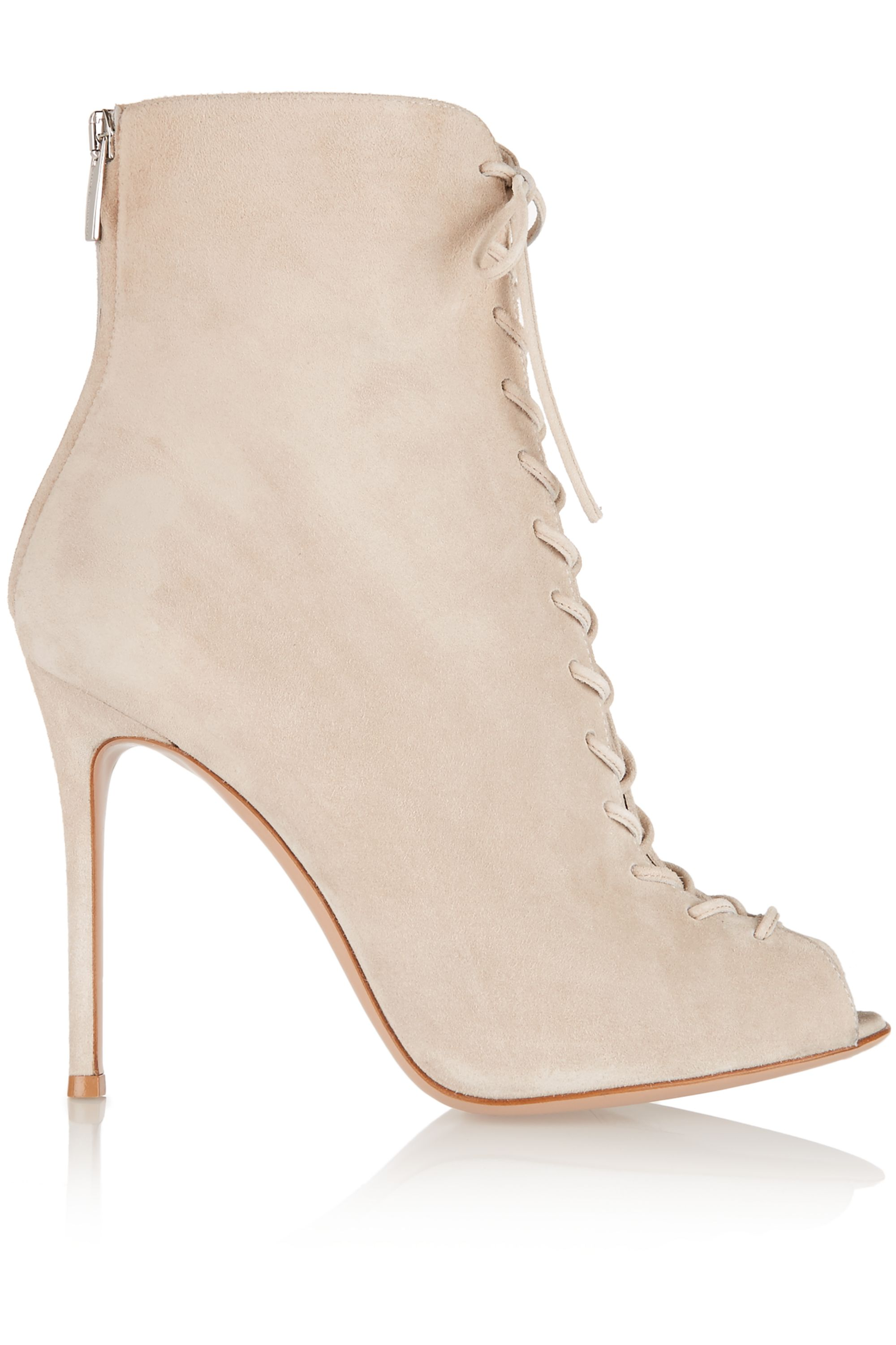 Gianvito Rossi Lace-up suede ankle boots