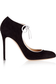 Gianvito Rossi Jolene suede Mary Jane pumps