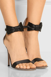 Gianvito Rossi Satin and patent-leather sandals
