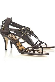 Giuseppe Zanotti|Taz strappy leather sandals|NET-A-PORTER.COM from net-a-porter.com