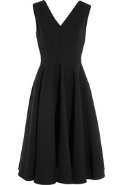 Wool-blend gabardine dress
